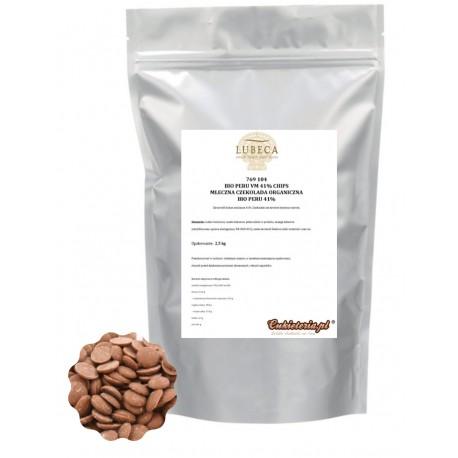 2,5kg Czekolada MLECZNA Organiczna BIO PERU 41% 769 104 Lubeca