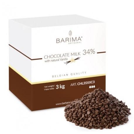 3kg Czekolada MLECZNA 34% CHL35XXC3 Barima