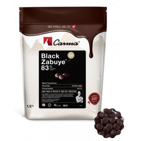 1,5 kg Czekolada CIEMNA/DESEROWA Black Zabuye 83% CHD-N199BLZAE6-Z71 Carma