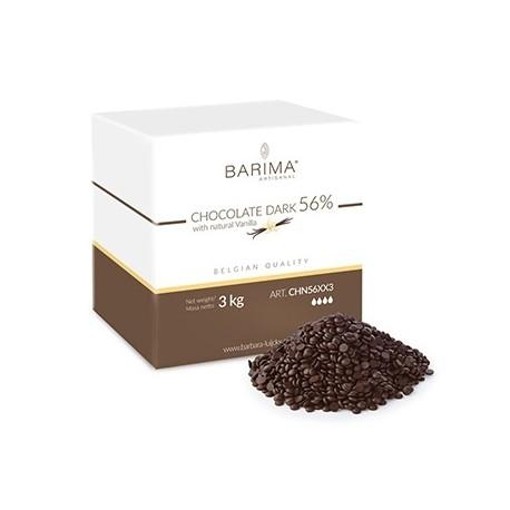 3kg Czekolada CIEMNA/DESEROWA 56% CHN56XX3 Barima