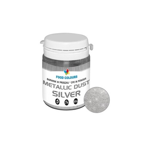 20g Barwnik SREBRNY do AEROGRAFU w proszku Metallic Dust WS-P-130 Food Colours