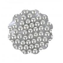 40g Perełki metaliczne SREBRNE 7 mm Sweet Decor