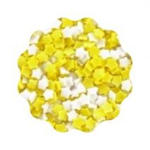 1kg GWIAZDKI BIAŁE I ŻÓŁTE konfetti cukrowe 5 mm Sempre