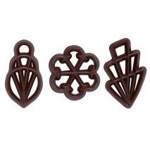 300 szt. Ażurki MELA z ciemnej czekolady 33122 Barbara Decor