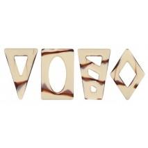 220 szt. Ażurki ART DECOR czekoladowe marmurkowe 3392515 Barbara Decor