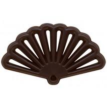 400 szt. Ażurki WACHLARZE z ciemnej czekolady 33192 Barbara Decor