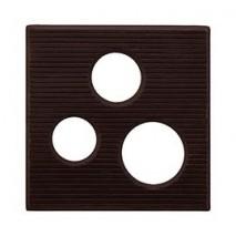 300 szt. Ażurki KWADRAT z ciemnej czekolady 33932 Barbara Decor