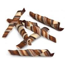 1,0 kg ROLSY TWISTER MARBLE 55 mm dekoracja czekoladowa 334594 Barbara Decor