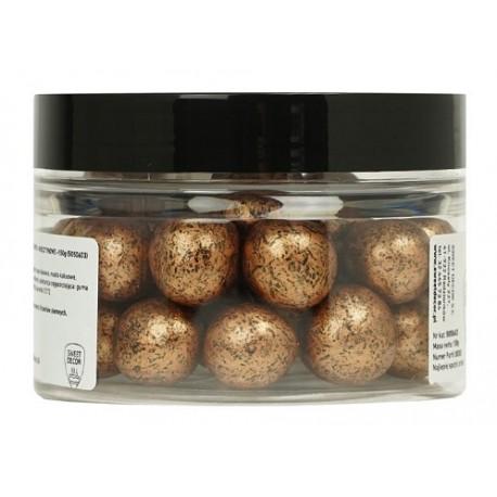150g BURSZTYNOWE METALIZOWANE kule z ciemnej czekolady z całym ORZECHEM LASKOWYM 5050603 Sweet Decor