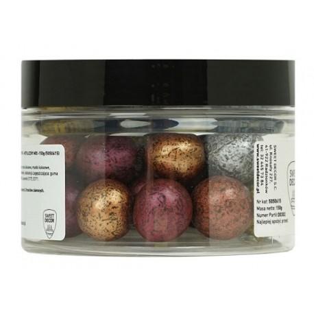 150g METALIZOWANY MIX kule z ciemnej czekolady z całym ORZECHEM LASKOWYM 5050615 Sweet Decor