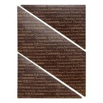5 szt. ARKUSZ Z NAPISAMI dekoracja z czekolady deserowej 195/265 mm 33950 Barbara Decor