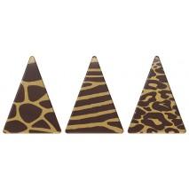252 szt. SAFARI TRIO dekoracja z czekolady deserowej dł. 48 mm 33957 Barbara Decor