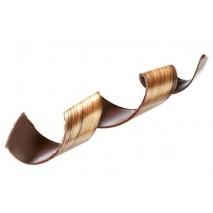 15 szt. ZŁOTA SPIRALA dekoracja z czekolady deserowej dł. 200 mm 33237 Barbara Decor