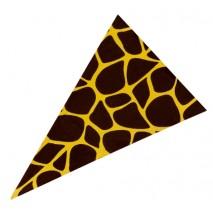 490 szt. TRÓJKĄTY JURA GIRAFFE dekoracja z czekolady deserowej dł. 55 mm CHD-PS-19811E0-999 Mona Lisa