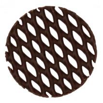195 szt. KOŁO KRATKA dekoracja z czekolady deserowej ∅ 50 mm CHD-GD-19837E0-999 Mona Lisa