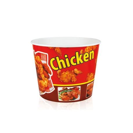 40 szt. Kubełek papierowy 4300 ml na popcorn CZERWONY B146 Galago