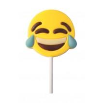 25 g Lizak Śmiejąca się emoticon z białej czekolady 92449 CCW