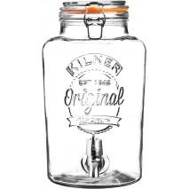 8l Szklany słój/dozownik do lemoniady z kranikiem Kilner