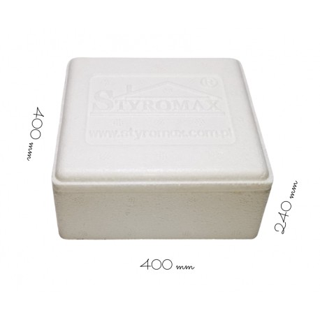Styropianowy pojemnik termoizolacyjny 400/400/240 mm PN2/240 Styromax