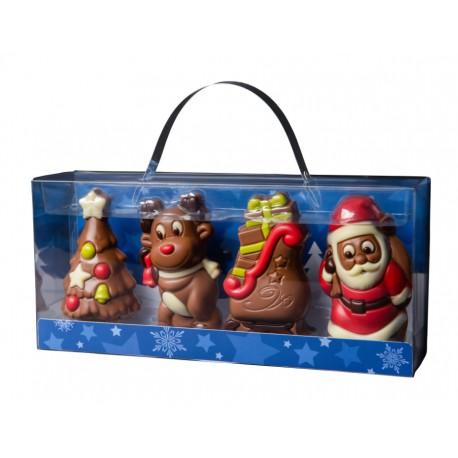 120 g Zestaw czterech figurek na Boże Narodzenie z mlecznej czekolady 65606 CCW