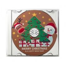 40 g Płyta CD Merry Christmas z mlecznej czekolady 65387 CCW
