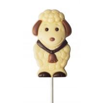 35 g Lizak owieczka z dzwoneczkiem z białej czekolady 92352 CCW