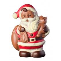 300 g św. Mikołaj z pluszowym misiem z mlecznej czekolady 65557 CCW