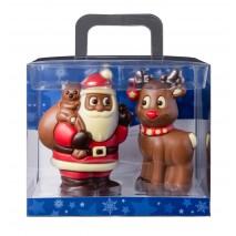 150 g Zestaw św. Mikołaj i renifer z mlecznej czekolady 65596 CCW
