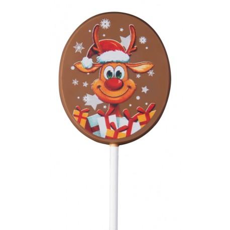25 g Lizak bożonarodzeniowy 2 wzory z mlecznej czekolady 92462 CCW
