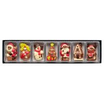 70 g Zestaw obrazków świątecznych 7 wzorów z mlecznej czekolady 65493 CCW
