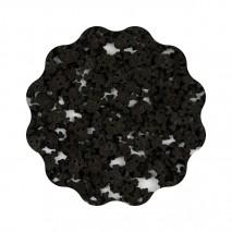 1kg CZASZKI czarne konfetti cukrowe 11 mm Sweet Decor