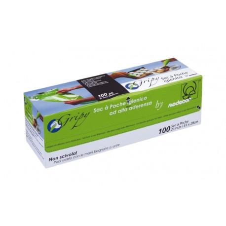100 szt. Zielone worki 36 cm cukiernicze jednorazowe na rolce 30303 Modecor