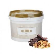 2,5kg VARIEGATO CIOCCOKROK FONDENTE pasta ciemna czekolada z kawałkami orzechów 12493 BABBI
