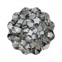 50g GWIAZDKI SREBRNE perłowe konfetti cukrowe 6 mm 5017/B Dekorpol