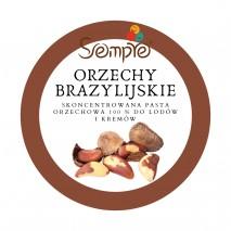 250g ORZECHY BRAZYLIJSKIE skoncentrowana pasta 100% do lodów i kremów Sempre
