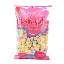 500g MARSHMALLOWS FLOWERS MIX kolorowe pianki kwiaty 22 mm 20268 Modecor