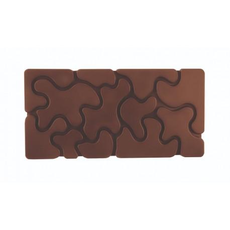 CAMOUFLAGE Forma do tabliczek czekolady z poliwęglanu PC5011 Pavoni