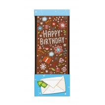 70 g Urodzinowa kartka z mlecznej czekolady z kolorowym nadrukiem 65707 CCW