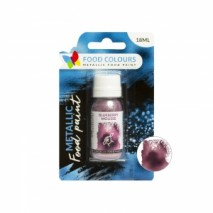 18 ml FIOLETOWA metaliczna farbka spożywcza FP-056 BLUEBERRY MOUSSE METALLIC FOOD PAINT Food Colours