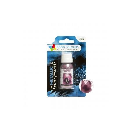 18 ml FIOLETOWA metaliczna farbka spożywcza FP-056 BLUEBERRY MOUSSE METALLIC FOOD PAINT Food Colours