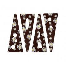 132 szt. CHA-CHA dekoracja z czekolady deserowej dł. 83 mm 33808 Barbara Decor