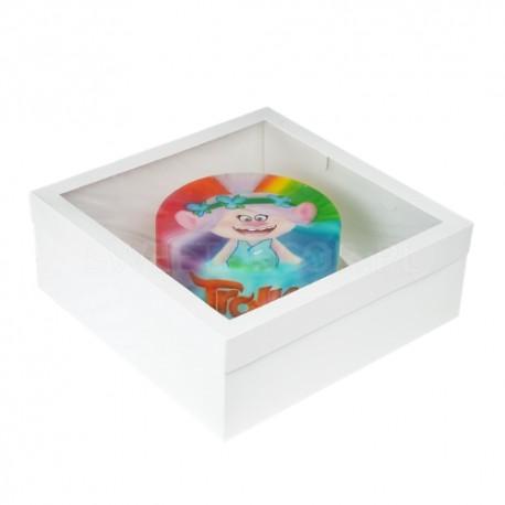 40/40/15 cm kartonowe opakowanie na tort z okienkiem Sweet Decor