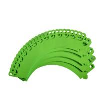 50 szt. Zielone dekoracyjne owijki do babeczek z koronką Papilart