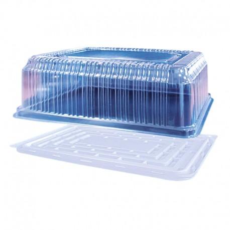 9560 ml Opakowanie prostokątne na ciasto RP7444PET/PS ROSANPAK zestaw taca z pokrywką