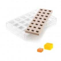 KIT QUADRO 01 SILIKOMART 52.915.86.0065 CH015 zestaw form do kwadratowych pralin