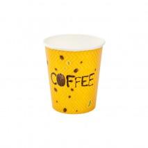 25 szt. SUPERCAPS 200 ml DOUBLE WALL CLICKPACK COFFEE&TEE kubek papierowy żółty