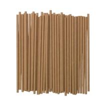 500 szt. Słomki papierowe brązowe ∅ 8 x 250 mm do napojów zimnych
