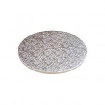 ∅ 25 cm PODKŁAD SREBRNY MODECOR 30617H metalizowany pakowany pojedynczo wysokość ok. 12 mm