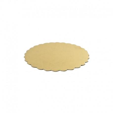 ∅ 15 cm DWUSTRONNA PODKŁADKA COLLINO cienka złoto srebrna z dekoracyjnym brzegiem