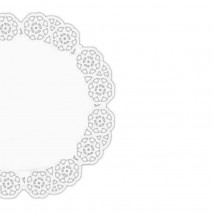 250 szt. ∅ 23 cm SERWETKI PORCELANOWE COLLINO okrągłe powlekane serwetki z koronką